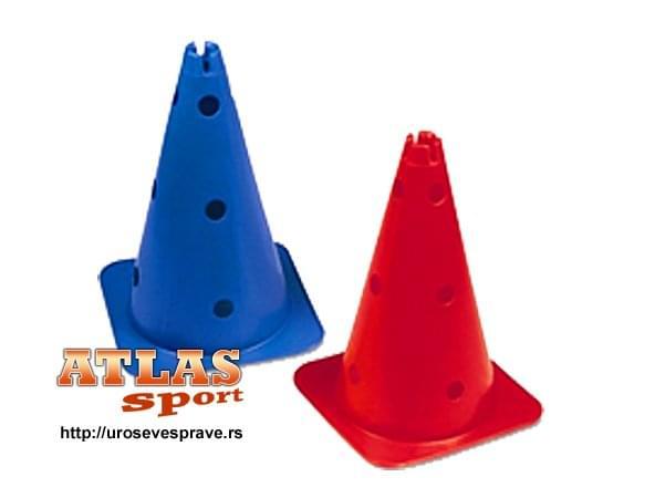 Plastični perforirani  sportski čunjevi visine 40cm ili 15