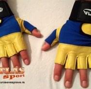 Žuto plave rukavice od neoprena i eko kože - proizvođač BMA