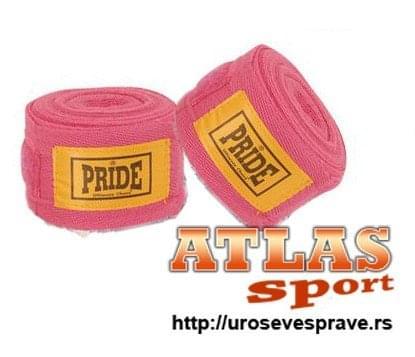 Ženski roze bandažeri za boks - 5m - proizvođač Pride