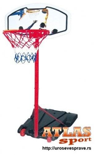 Manji stub za košarku sa košarkaškom tablom i košem