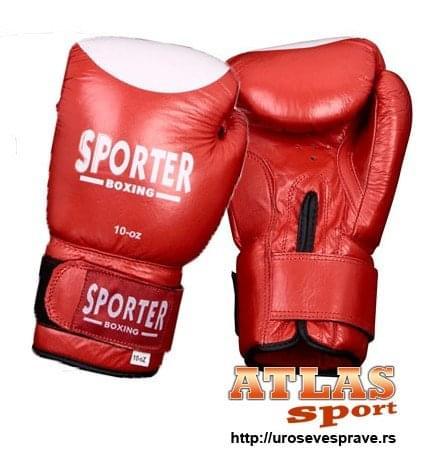 Crveno bele rukavice za boks 10oz - proizvođač Sporter