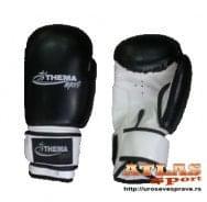 Crno bele rukavice za boks - proizvođač Thema sport