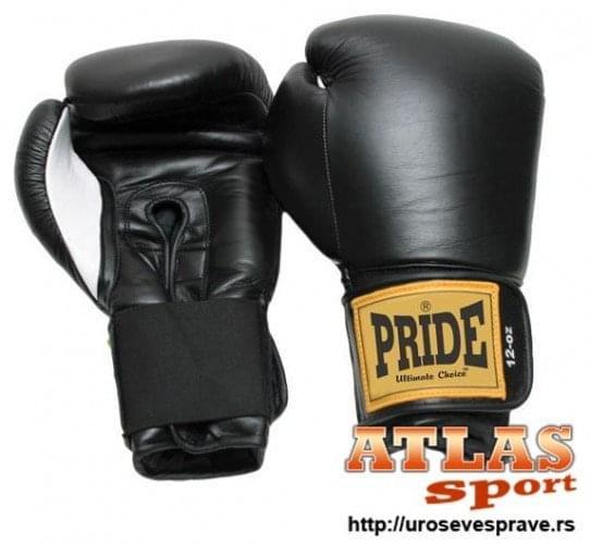 Crne kožne rukavice za boks 12oz - proizvođač Pride