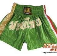 Šorc za kik boks - proizvođač Leone - zeleno zlatni