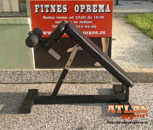 Profesionalna podesiva klupa za trbušnjake - maksimalno izdužena - proizvodnja ATLAS sport