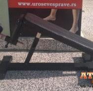 Profesionalna podesiva klupa za trbušnjake - proizvodnja ATLAS sport