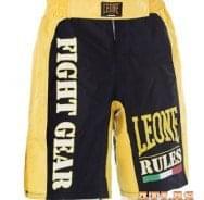 Šorc za borilačke sportove - žuto crni - Leone Rules 1947