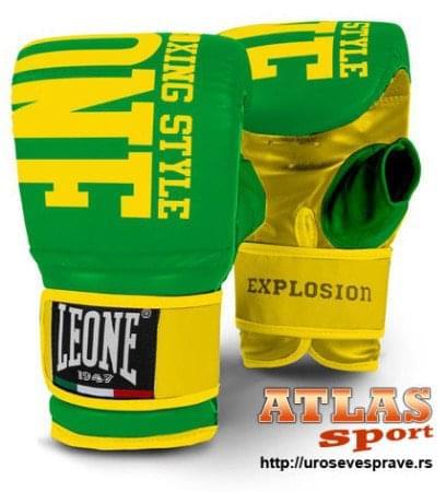 rukavice za boks Explosion - proizvođač Leone - zeleno žute