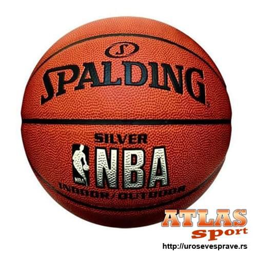 Kožna lopta za košarku Spalding silver NBA