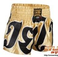 Šorc za tai boks - zlatno crni - svila - Leone Rules 1947