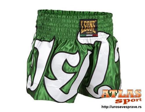 Šorc za tajlandski boks - proizvođač Leone - zeleno beli